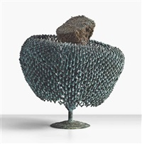 a bush sculpture by harry bertoia