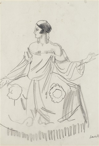 maria dalbaicin wearing a picasso costume by dame laura knight