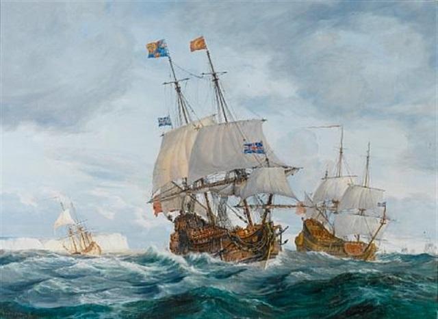 the vessel quotold jamesquot by gustave louis michel alaux