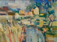la rivière et la village by albert lauzero