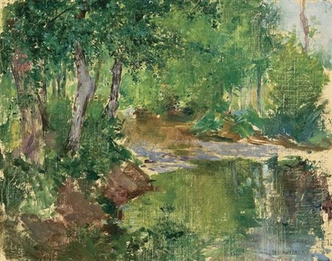 le ruisseau by willard leroy metcalf
