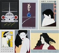 stanley fimberg, silver sunbeam, art expo cal, collector's gallery, architectural digest (10 works) by patrick nagel