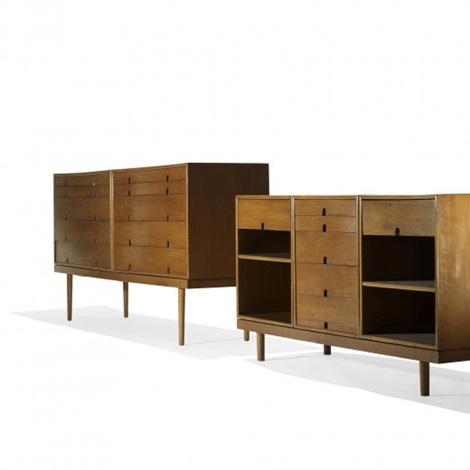 cabinets (pair) by eero saarinen and charles eames