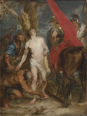 martyrdom of saint sebastian by sir anthony van dyck