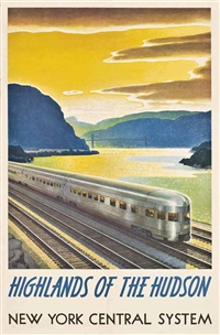 highlands of the hudson, new york central system by leslie ragan