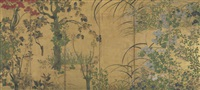 flowers of the four seasons by japanese school-rimpa (19)