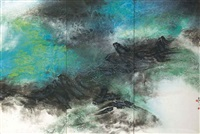 symphony of spring (triptych) by liu kuo sung