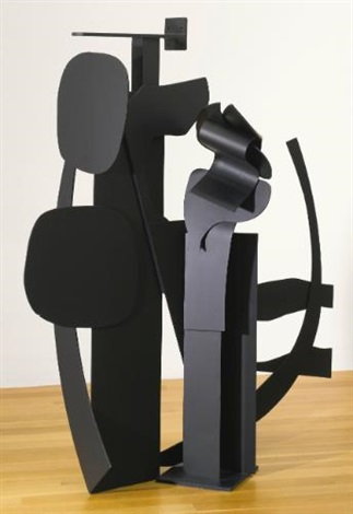 black flower series vi by louise nevelson