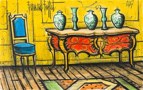 la baume la commode aux vase chinois by bernard buffet