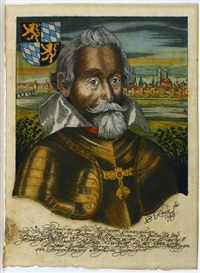 portrait maximilians i., herzog von bayern (sketch for calendar) by bernhard (christian bernhard) rode