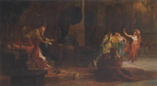 v lászló udvara v lászló neveltetése the court of king lászló the 5th by bertalan székely von adámos