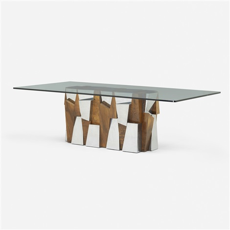 faceted dining table by paul evans