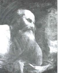 male saint in profile by jan (pan) von lis