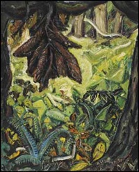 forest green wall by arthur lismer