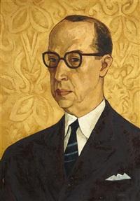 half length portrait of luis antonio penaherrera by oswaldo guayasamín