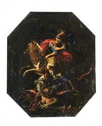san giorgio e il drago by marcantonio bassetti