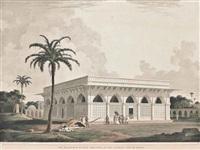 the jummah musjed, delhi; the mausoleum of amir khusero, at the ancient city of delhi; view at delhi, near the mausoleum of humaioon (3 works) by thomas daniell