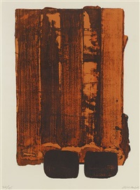 lithographie n°34 by pierre soulages