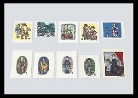 various prints (set of 10, various sizes) by sumio kawakami