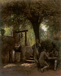 beim kartenspiel by victor bachereau-reverchon