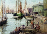 gloucester fishing boats by clara e. langenbach