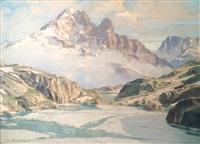 le lac blanc et l'aiguille verte by charles henry contencin