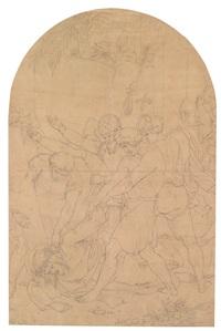 christus fällt unter dem kreuz das zweite mal, studie zur vii. station der prager kreuzwegkapellen by josef von führich