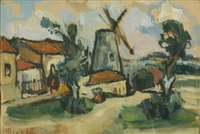 the gristmill in yemin moshe, jerusalem by miron sima