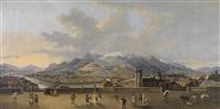 panorama von innsbruck, vom stadtturm aus gesehen by friedrich rehberg