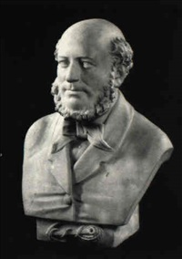 bust of a bearded gentleman, with coiled rope and anchor by john adams-acton