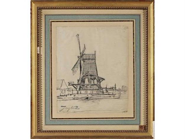moulin à vente en hollande by johan barthold jongkind
