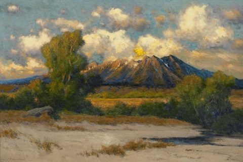 scene in utah by charles partridge adams