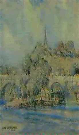 ile de la cite paris by george wharton edwards