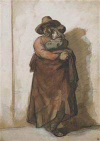 paysan romain tenant un enfant dans ses bras by théodore géricault