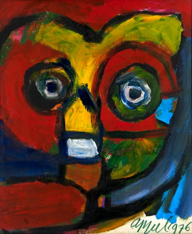 kopf surreale figur by karel appel