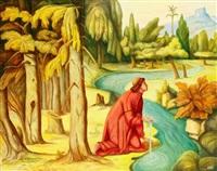 le moine agenouillé à la source by andré quellier