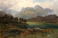 the langdale pikes by samuel lawson booth