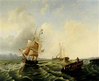 shipping off the coast by william garthwaite