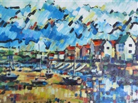 the harbour at wells, norfolk by olivia pilling