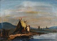 halte des hurons, sur un îlot du st. laurent près de montréal, canada by james d. duncan