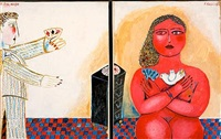 couple (diptych) by vassilis sperantzas
