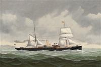 "the belgian steamer ""amélie"" bound for spain by john henry mohrmann"