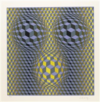 diam (portfolio of 9) by victor vasarely