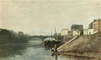 on the seine, paris by james macdonald barnsley