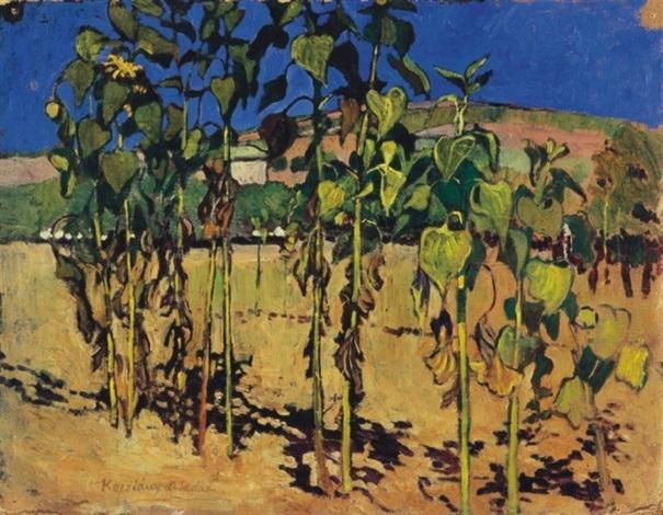 sunflowers by aladar kacziany