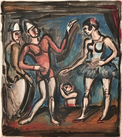la parade from cirque by georges rouault