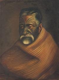 tuhoto ariki, a maori high priest by gottfried lindauer