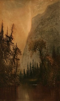 yosemite valley landscape by henry arthur elkins