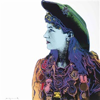 annie oakley, from: cowboys and indians by andy warhol
