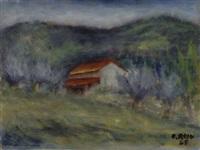 paesaggio by ottone rosai